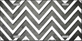 Gray White Chevron Oil Rubbed Wholesale Metal Novelty License Plate