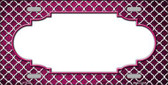 Pink White Quatrefoil Scallop Print Oil Rubbed Wholesale Metal Novelty License Plate