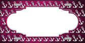 Pink White Anchor Scallop Print Oil Rubbed Wholesale Metal Novelty License Plate