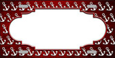 Red White Anchor Scallop Print Oil Rubbed Wholesale Metal Novelty License Plate
