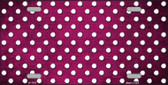 Pink White Small Dots Print Oil Rubbed Wholesale Metal Novelty License Plate
