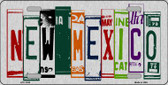 New Mexico License Plate Art Brushed Aluminum Wholesale Metal Novelty License Plate