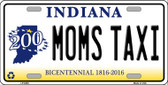 Moms Taxi Indiana Novelty Wholesale Metal License Plate