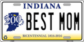 Best Mom Indiana Novelty Wholesale Metal License Plate