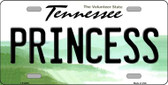 Princess Tennessee Novelty Wholesale Metal License Plate