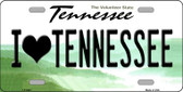 I Love Tennessee Novelty Wholesale Metal License Plate