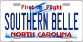 Southern Belle North Carolina Novelty Wholesale Metal License Plate