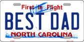 Best Dad North Carolina Novelty Wholesale Metal License Plate
