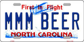 MMM Beer North Carolina Novelty Wholesale Metal License Plate