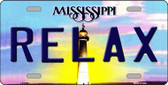 Relax Mississippi Novelty Wholesale Metal License Plate