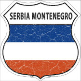 Serbia Montenegro Country Flag Highway Shield Wholesale Metal Sign