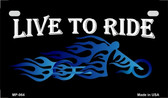 Live To Ride Wholesale Metal Novelty Motorcycle License Plate