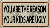 You Are The Reason Wholesale Metal Novelty Motorcycle License Plate MP-11661