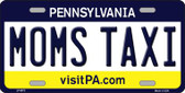 Moms Taxi Pennsylvania State Background Novelty Wholesale Metal License Plate