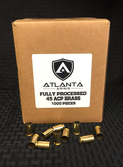 45ACP Fully Processed Brass - 1000 Pieces