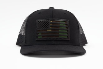 Eagles and Angels Black Richardson Trucker Hat