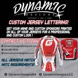 Custom Jersey Lettering