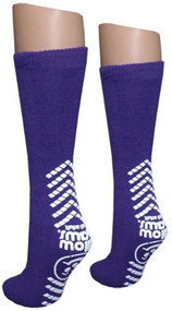 Ladies Purple Slipper Socks - Tred Mates - XXL