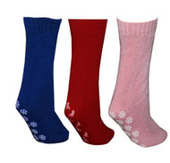 Pack of 3 Pairs Slipper Socks (Red/Blue/Pink)