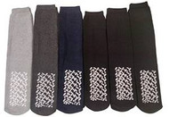 6 Pack Mens No Slip Diabetic Sock Cotton Blend Assorted Colors, Size 10-13