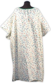 Plus Size Hospital Gown 5x (Multi Tan Geo)