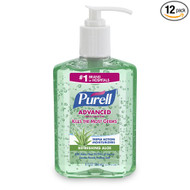 PURELL 9674-12 Instant Hand Sanitizer with Aloe, 8 fl oz Pump Bottle (Case of...