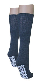 Diabetic Slipper Socks (3 Pairs, 3 Colors) (3 Pairs Grey)
