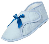 Edema Velcro® Brand Ladies Solid Booties (XL 9.5-10.5, Light Blue)