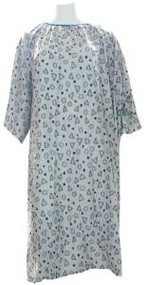 Plus Size Hospital Gown 5x (Geo Grey)