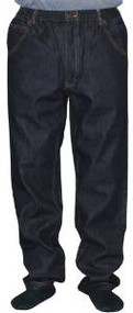 100% Cotton 5 Pocket Full Elastic Jeans - Black (Inseam 30-31 / Waist 44)