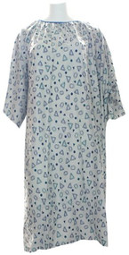 IV Hospital Gown 5x - Teal - Snaps on the Sholders (Geo Grey)