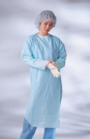 Disposable Isolation Gown Thumb Loop (Large - Pack of 75)