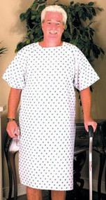 Printed Patient Medical Gown - Pack of 4