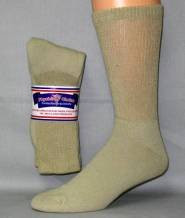 Tan Diabetic Crew Socks (1 Dozen)