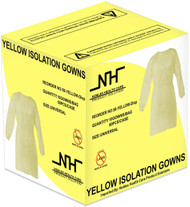 Nobles Disposable Isolation Gown Size: Universal Qty: 50 per Case (Yellow)