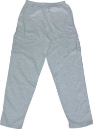 Cargo Sweatpants W/pockets (Large, Charcoal Grey)
