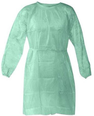 Disposable Isolation Gown Size: Universal Qty: 50 per Case (Green)