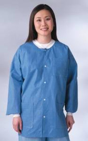NONRP600XL - Knit Cuff/Collar Multi-Layer Material Lab Jackets,Blue,XL
