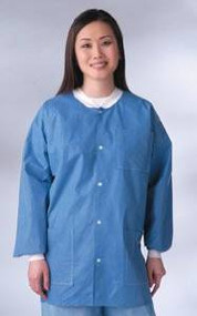 [Itm] X-Large [Acsry To]: Antistatic Classic Lab Jackets - Blue, Latex-Free -...