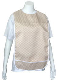 Adult Vinyl Adult Bibs with Crumb Catcher - Premium Bib