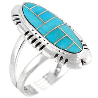 Turquoise Ring Sterling Silver R2096-SM-C05