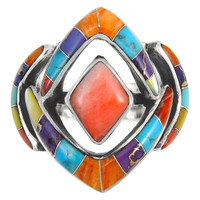 Multi Gemstone Ring Sterling Silver R2040-C00