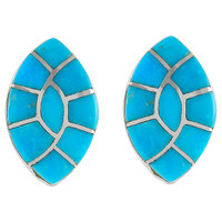 Sterling Silver Earrings Turquoise E1043-C05