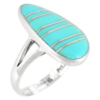 Turquoise Ring Sterling Silver R2027-C05