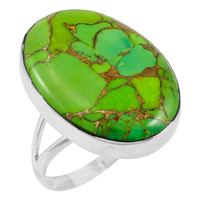 Green Turquoise Ring Sterling Silver R2260-C76