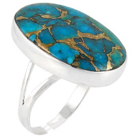 Matrix Turquoise Ring Sterling Silver R2260-C84