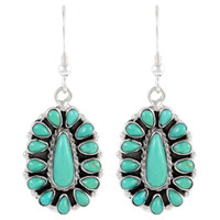 Sterling Silver Earrings Turquoise E1034-C75