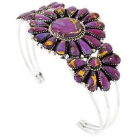 Purple Turquoise Bracelet Sterling Silver B5523-C77