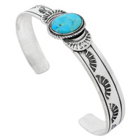 Turquoise Bracelet Sterling Silver B5525-C75