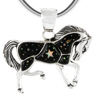 Sterling Silver Horse Pendant Shooting Stars P3125-C27